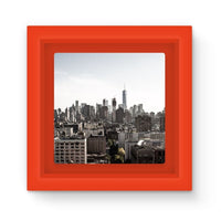 Landscape Of New York City Magnet Frame Red Homeware