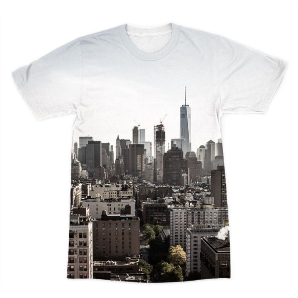 Landscape Of New York City Sublimation T-Shirt Xs Apparel
