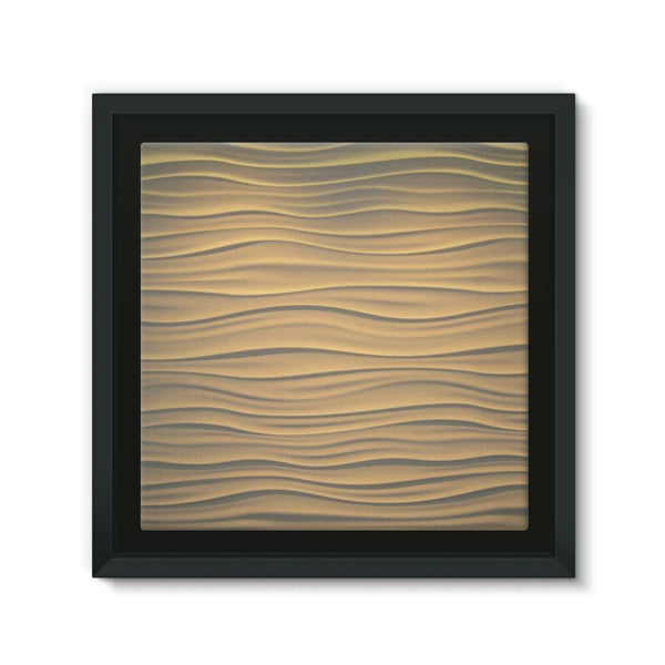Light Zigzag Sand Framed Canvas 12X12 Wall Decor