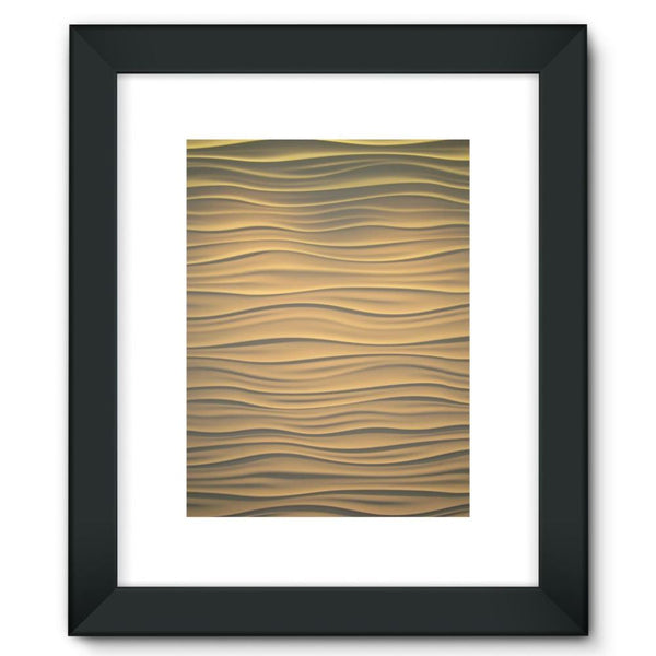 Light Zigzag Sand Framed Fine Art Print 12X16 / Black Wall Decor