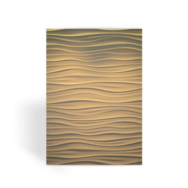 Light Zigzag Sand Greeting Card 1 Prints