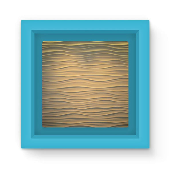 Light Zigzag Sand Magnet Frame Blue Homeware
