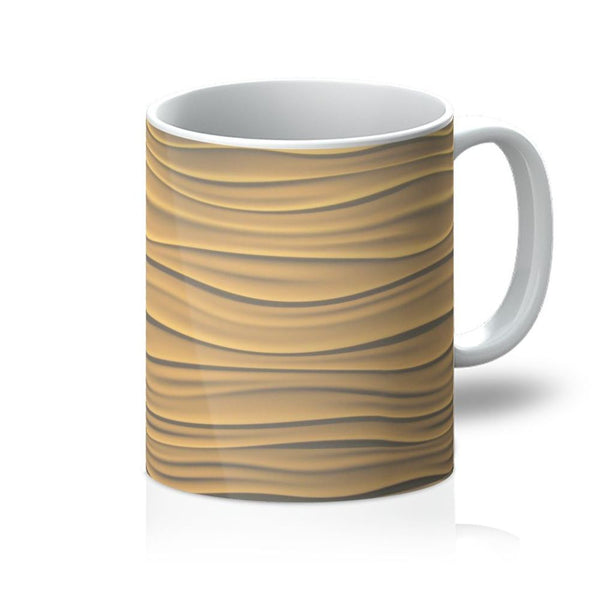 Light Zigzag Sand Mug 11Oz Homeware