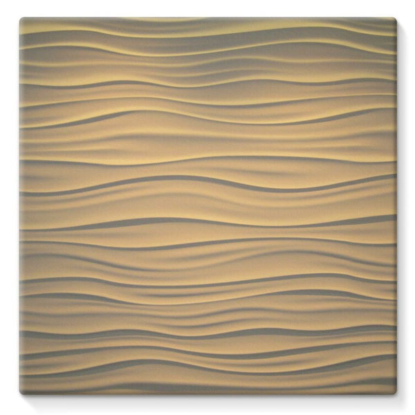 Light Zigzag Sand Stretched Canvas 10X10 Wall Decor