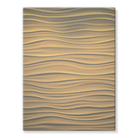 Light Zigzag Sand Stretched Canvas 12X16 Wall Decor