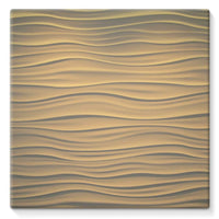 Light Zigzag Sand Stretched Canvas 14X14 Wall Decor