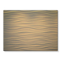 Light Zigzag Sand Stretched Canvas 16X12 Wall Decor