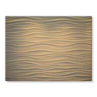 Light Zigzag Sand Stretched Canvas 24X18 Wall Decor