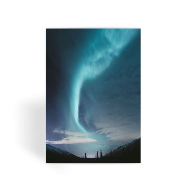 Lightning On Sky In Valley Greeting Card 1 Prints