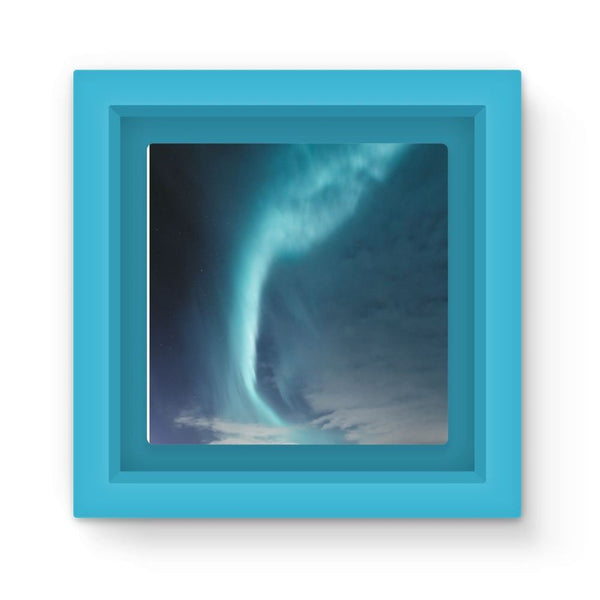 Lightning On Sky In Valley Magnet Frame Light Blue Homeware