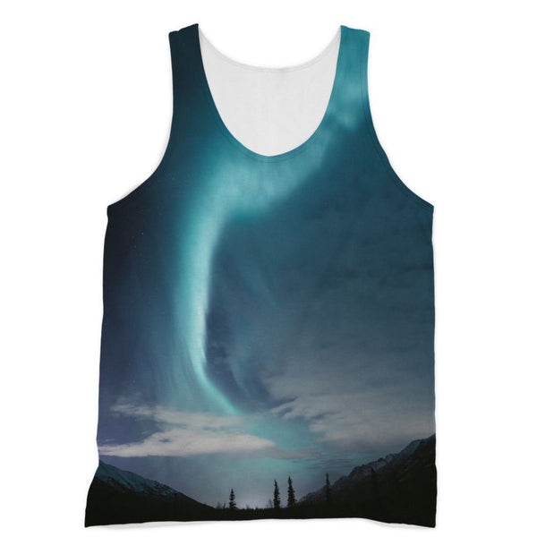 Lightning On Sky In Valley Sublimation Vest Xs Apparel