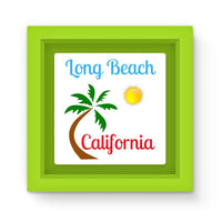 Long Beach California Magnet Frame Green Homeware