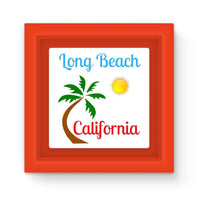 Long Beach California Magnet Frame Red Homeware