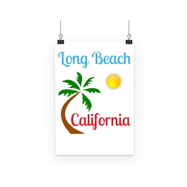 Long Beach California Poster A3 Wall Decor
