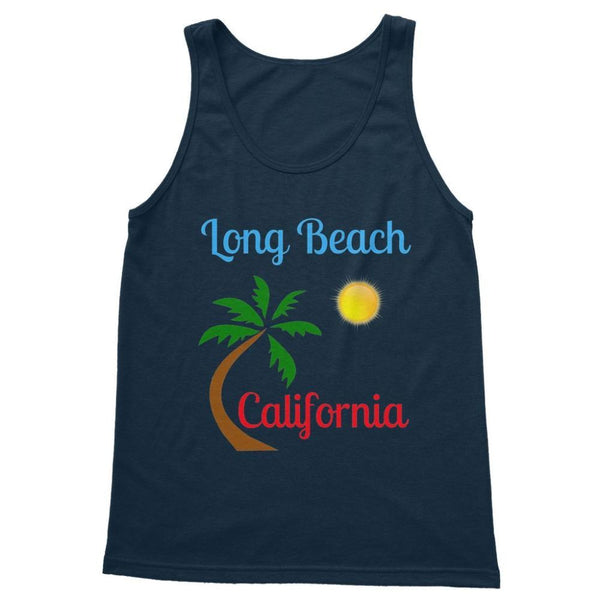 Long Beach California Softstyle Tank Top S / Navy Apparel