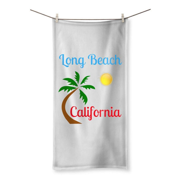 Long Beach California Towel 19.7X39.4 Homeware