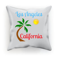 Los Angeles California Cushion Faux Suede / 18X18 Homeware