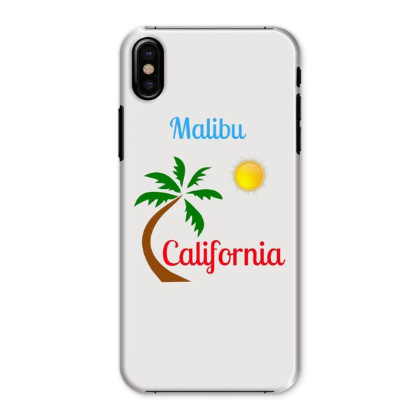 Malibu California Phone Case Iphone X / Snap Gloss & Tablet Cases
