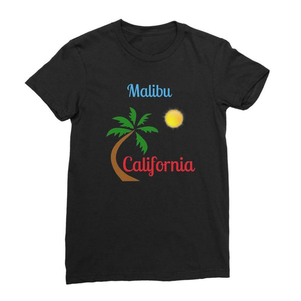 Malibu California Womens Fine Jersey T-Shirt S / Black Apparel