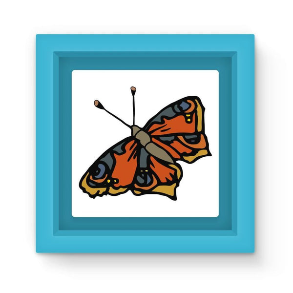 Many Browns Butterfly Magnet Frame Light Blue Homeware
