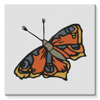 Many Browns Butterfly Stretched Eco-Canvas 10X10 Wall Decor