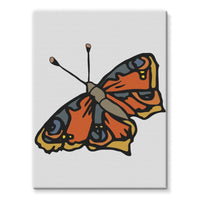 Many Browns Butterfly Stretched Eco-Canvas 18X24 Wall Decor