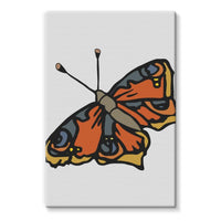 Many Browns Butterfly Stretched Eco-Canvas 20X30 Wall Decor