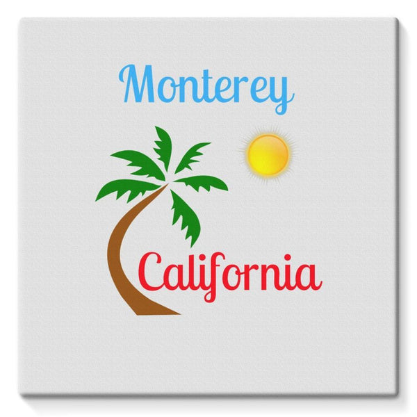 Monterey California Stretched Canvas 10X10 Wall Decor