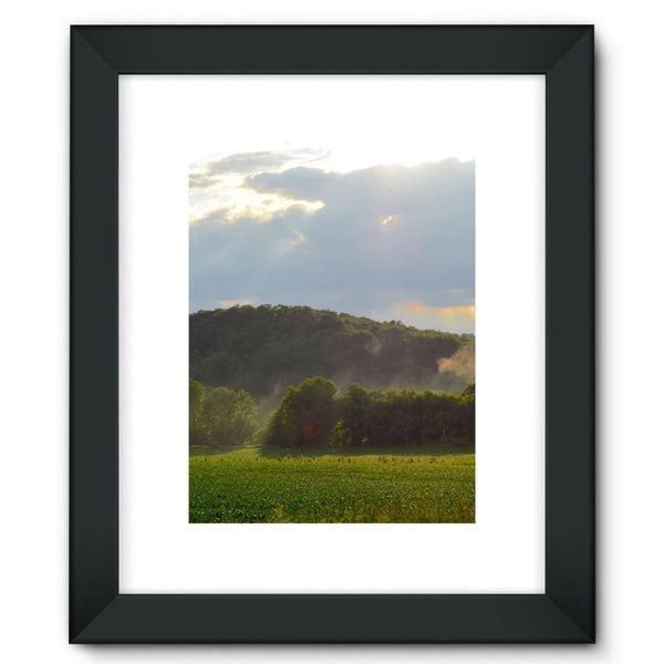 Mountain And Forest Framed Fine Art Print 12X16 / Black Wall Decor