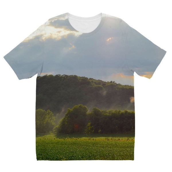 Mountain And Forest Kids Sublimation T-Shirt 3-4 Years Apparel