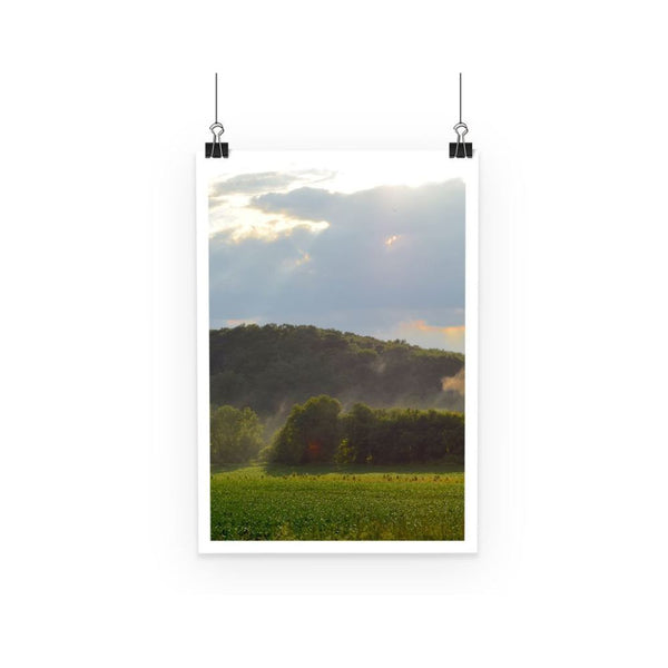Mountain And Forest Poster A3 Wall Decor