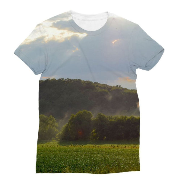 Mountain And Forest Sublimation T-Shirt S Apparel