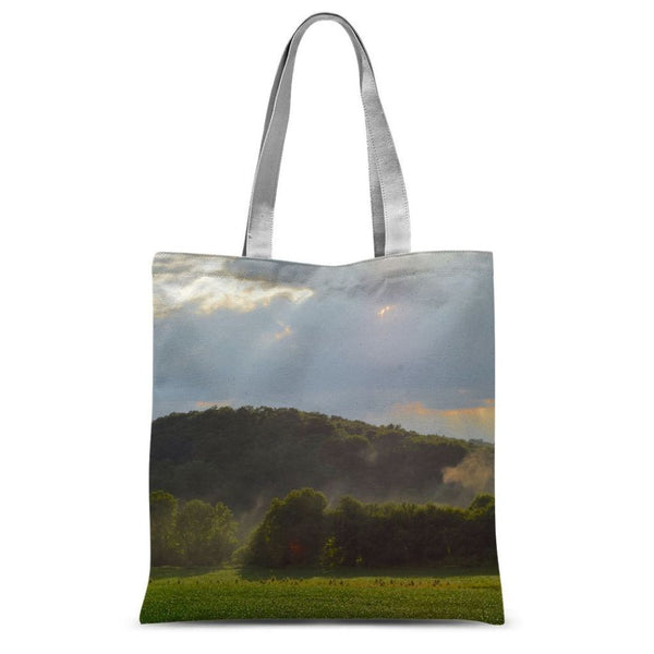 Mountain And Forest Sublimation Tote Bag 15X16.5 Accessories