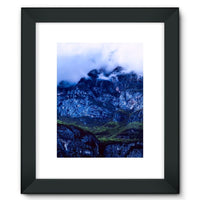 Mountain Covered Clouds Framed Fine Art Print 12X16 / Black Wall Decor