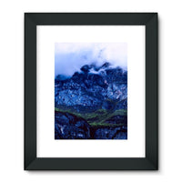 Mountain Covered Clouds Framed Fine Art Print 18X24 / Black Wall Decor