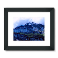 Mountain Covered Clouds Framed Fine Art Print 32X24 / Black Wall Decor