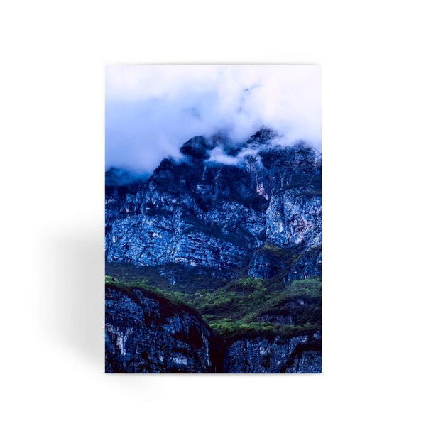 Mountain Covered Clouds Greeting Card 1 Prints