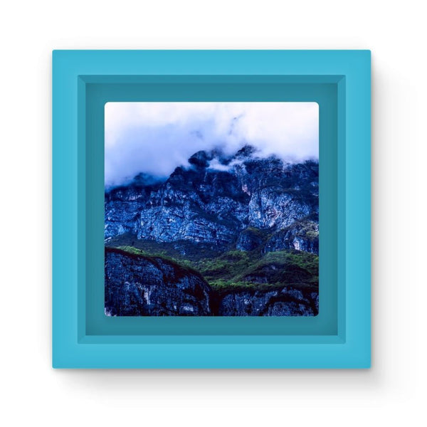 Mountain Covered Clouds Magnet Frame Light Blue Homeware