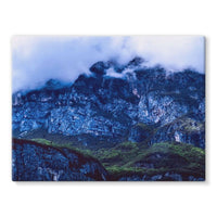 Mountain Covered Clouds Stretched Canvas 16X12 Wall Decor