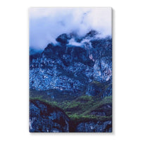 Mountain Covered Clouds Stretched Eco-Canvas 20X30 Wall Decor