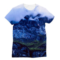 Mountain Covered Clouds Sublimation T-Shirt S Apparel