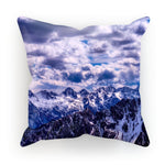 Mountain With Cloudy Sky Cushion Linen / 12X12 Homeware