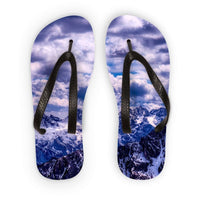 Mountain With Cloudy Sky Flip Flops S Accessories