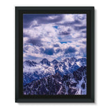 Mountain With Cloudy Sky Framed Eco-Canvas 11X14 Wall Decor