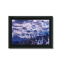 Mountain With Cloudy Sky Framed Eco-Canvas 36X24 Wall Decor