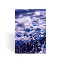Mountain With Cloudy Sky Greeting Card 1 Prints
