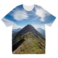 Mountain With Cloudy Sky Kids Sublimation T-Shirt 3-4 Years Apparel