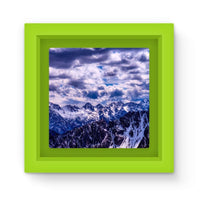 Mountain With Cloudy Sky Magnet Frame Green Homeware