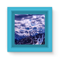 Mountain With Cloudy Sky Magnet Frame Light Blue Homeware