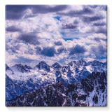 Mountain With Cloudy Sky Stretched Canvas 10X10 Wall Decor